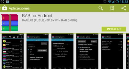 winrar para android
